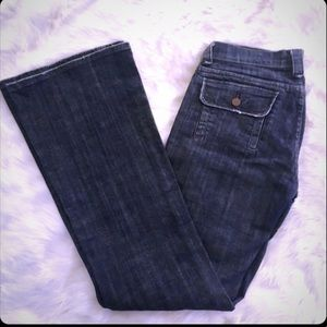 Size 27 Arden B Dark Wash Boot Cut Jeans